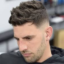 textured top faded sides mid fade haircut