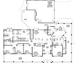 garage office plans ranch style house plan 4 beds 3 00 baths 2415 sq ft plan 60 292