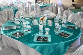 turquoise baby shower time for the holidays