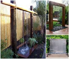 Diy Backyard Ideas Ideas Diy Stunning Outdoor Water Wall
