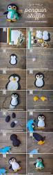winter penguin felt stuffie penguins tutorials and studio