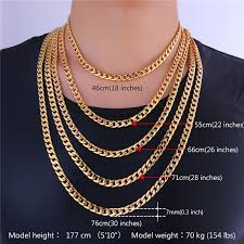 curb chain necklace mens images Miami cuban link chain necklace 7mm silver gold color curb chain jpg