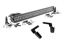 30 inch led light bar 30 inch black series dual row led light bar hidden bumper mounts kit