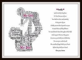 personalised son daughter dad poem daddy day birthday christmas