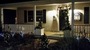 porch at night the roundtable block island at christmas
