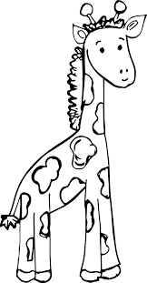 zoo baby giraffe coloring page wecoloringpage