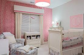 designs ideas awesome pink nursery with unique pink wallpaper