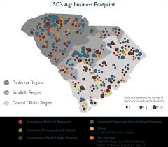 State Map Of South Carolina by Sc Agribusiness
