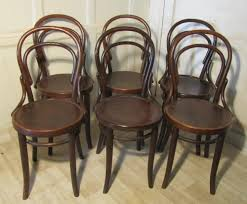 Bistro Chairs Uk Set Of 6 Thonet Bistro Bentwood Chairs 246404 Sellingantiques