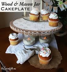 wedding cake jars wood and jar cake plate rustic wedding keepsake