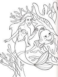 walt disney coloring pages princess ariel flounder walt disney