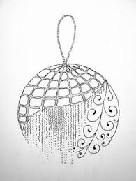 ornaments zentangle pencil and in color