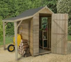 4 x 6 overlap pressure treated apex shed with lean to wood