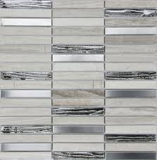 Metal Kitchen Backsplash by Metal Grigio Gd12 Glass U0026 Stainless Steel Mixed Athens Grey