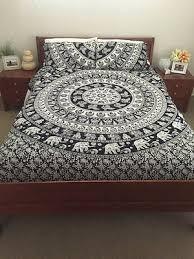 elephant mandala duvet cover queen quilt cover indian hippie boho