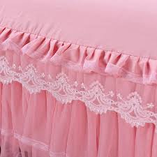 Girls Bed Skirt by Lovely Cartoon Rabbit Pink And White 100 Cotton Princess Kid