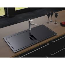 Black Glass Kitchen Sinks Big Kitchen Sinks Glass Adorable Glass Sink Kitchen Home Design