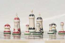 White Chess Set Chess Sets From The Chess Piece Chess Set Store Bone Circle Camel