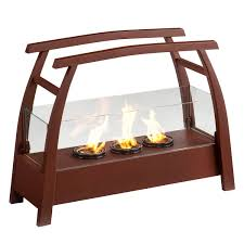 bronze finished kanto portable indoor outdoor fuel gel fireplace