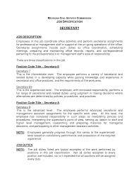 Cover Letter For Secretary Position Secretary Job Description Resume Resume For Your Job Application