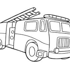 fire truck coloring page for kids coloring sky