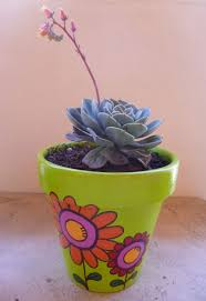 painted flower pots flower spring and craft