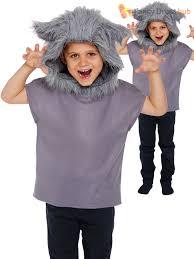 Werewolf Costume Childs Wolf Animal Fancy Dress Costume Boys Werewolf Book