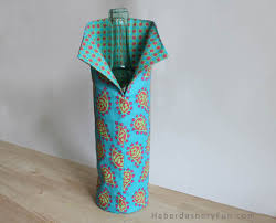 diy easy fabric wine cover haberdashery