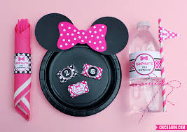 free printable minnie mouse ears for plates pink baby pink