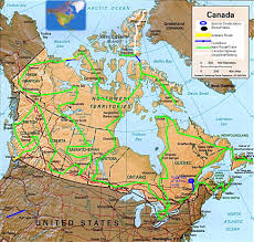 road map canada the great canadian road trip map