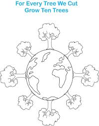earth day printable coloring page for kids 7 going green
