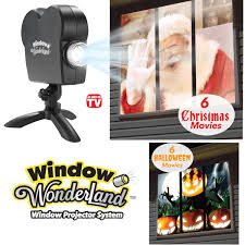 christmas window projection dvd window wonderland projector