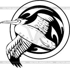 albatross tattoo vector clipart