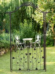 nostalgia garden gate gates 235cm iron antique style garden rose