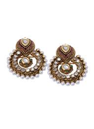 jewellery designers shillpa purii antique finish kundan earrings shop earrings at