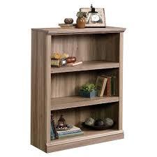 3 Shelf Bookcase With Doors 3 Shelf Bookcase Salt Oak Sauder Target