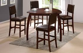 enrica triangle counter high dining table set with high dining