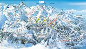 Alps Mountains Map Trail Mapping Les 3 Vallees France