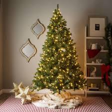 pre lit artificial christmas trees 7 foot pre lit artificial christmas tree w clear or multicolor