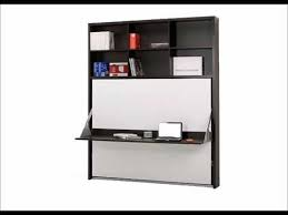 wall beds with desk horizontal murphy bed desk from italy youtube