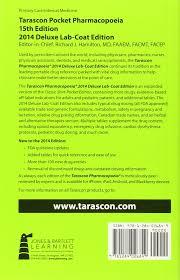 tarascon pocket pharmacopoeia 2014 deluxe lab coat richard j