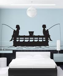 nature wall decals nature stickers for walls stickerbrand vinyl wall decal sticker kids fishing off peer gfoster175