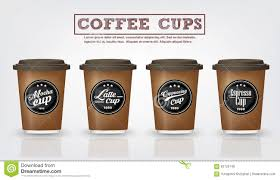 collection of coffee badges and logo design on coffee cup vector