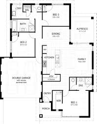 House Plans Com 120 187 Contemporary 3 Bedroom House Plans Corglife