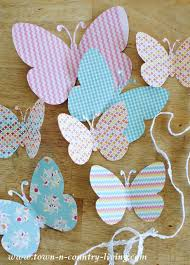 butterfly garland with free printable town u0026 country living