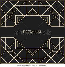 Art Deco Design Elements Vector Geometric Frame Art Deco Style Stock Vector 414502378