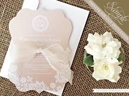 wedding invitations cape town sample chagne lace ornate die cut wedding invitation paper