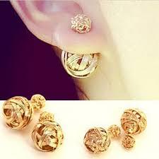 golden earrings bird nest golden earrings hooplahop
