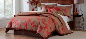 essential home cozy bedding kmart com piece comforter set red leaf