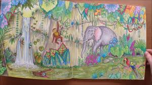 magical jungle johanna basford colouring book flipthrough